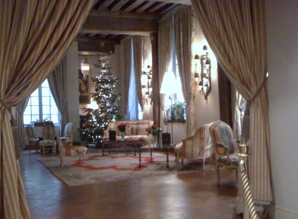 Hotel D'Aubusson got our vote for the nicest Christmas interior.