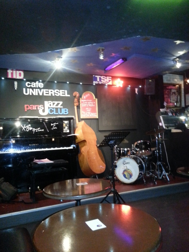 Jazz club. Cafe Universel on Rue St Jacques.