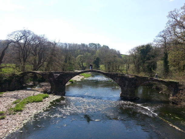 Ancient bridge over the River Ribble