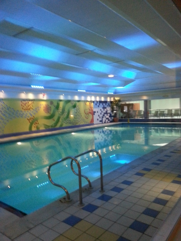the excellent indoor swimming pool